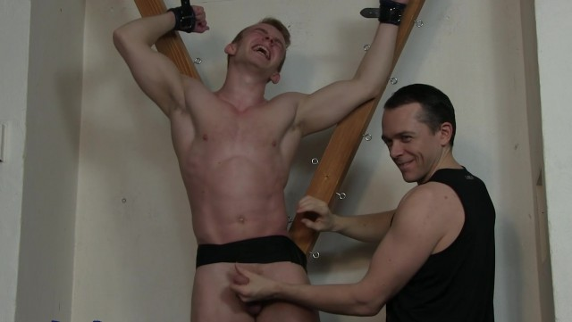 Marty Tickle Edging On The Cross HD Part 2